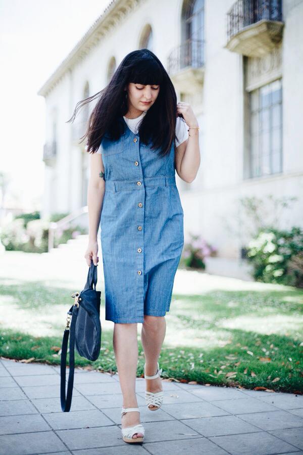 How to sleeveless wear denim dress advise dress in spring in 2019